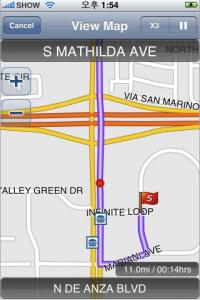g map navigace iphone1 200x300   G Map   skutečná navigace pro iPhone 3G. Blýská se na lepší časy?
