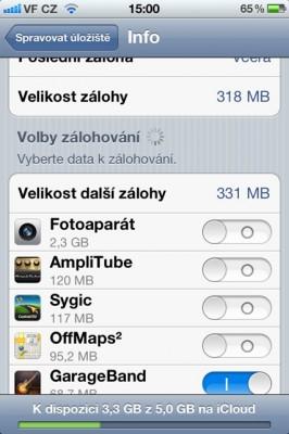 iCloud backup 04 266x400   Jak spravovat zálohy na iCloudu