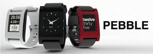 Pebble 500x177   Pebble   hodinky pro iPhone s technologií e ink