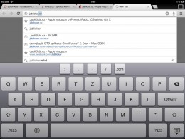 chrome ipad 02 260x195   Recenze Google Chrome pro iOS