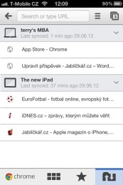 chrome iphone 05 173x260   Recenze Google Chrome pro iOS