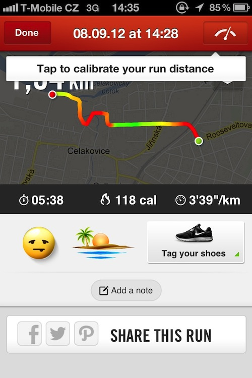 jak nastavit km v nike running