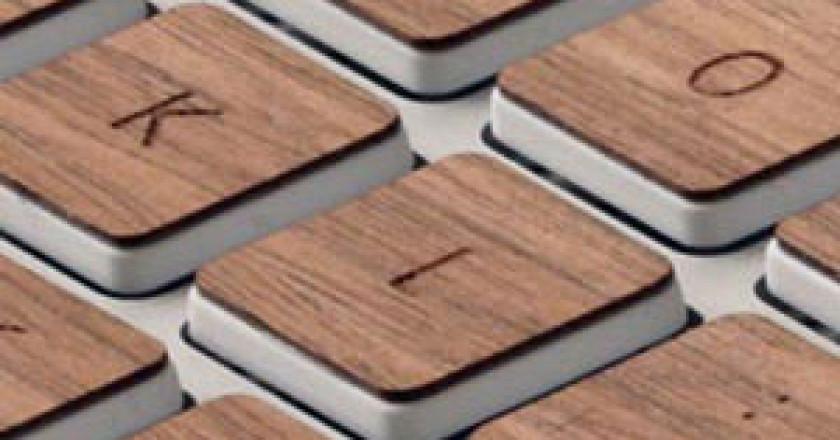 klávesnice dřevo icon
