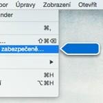 Jak prohledat řádek nabídek (menu bar)