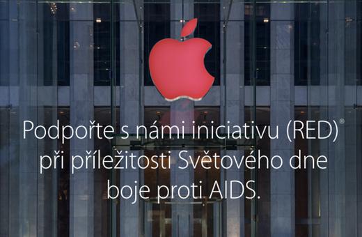 Apple při příležitosti Světového dne boje proti AIDS masivně podporuje iniciativu (RED)