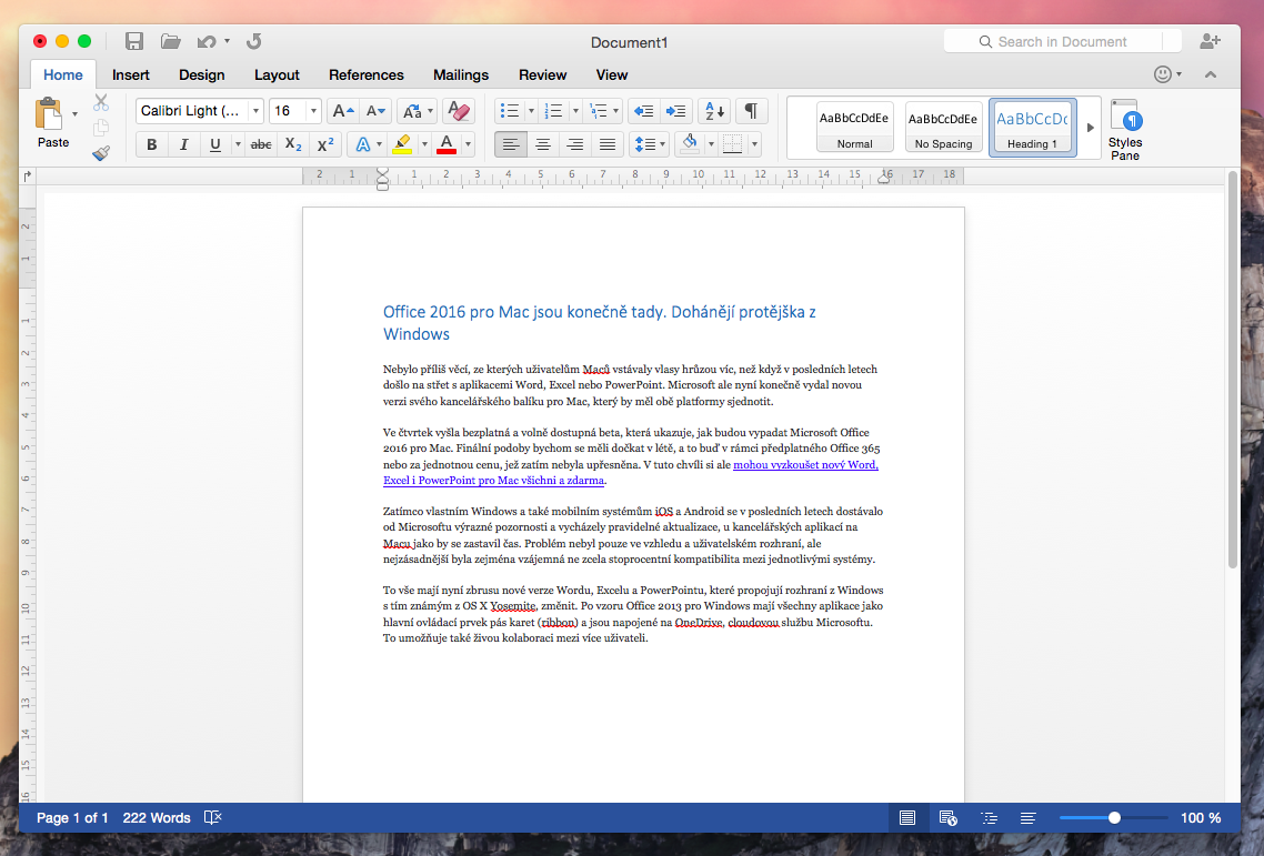 microsoft office excel for mac 2016