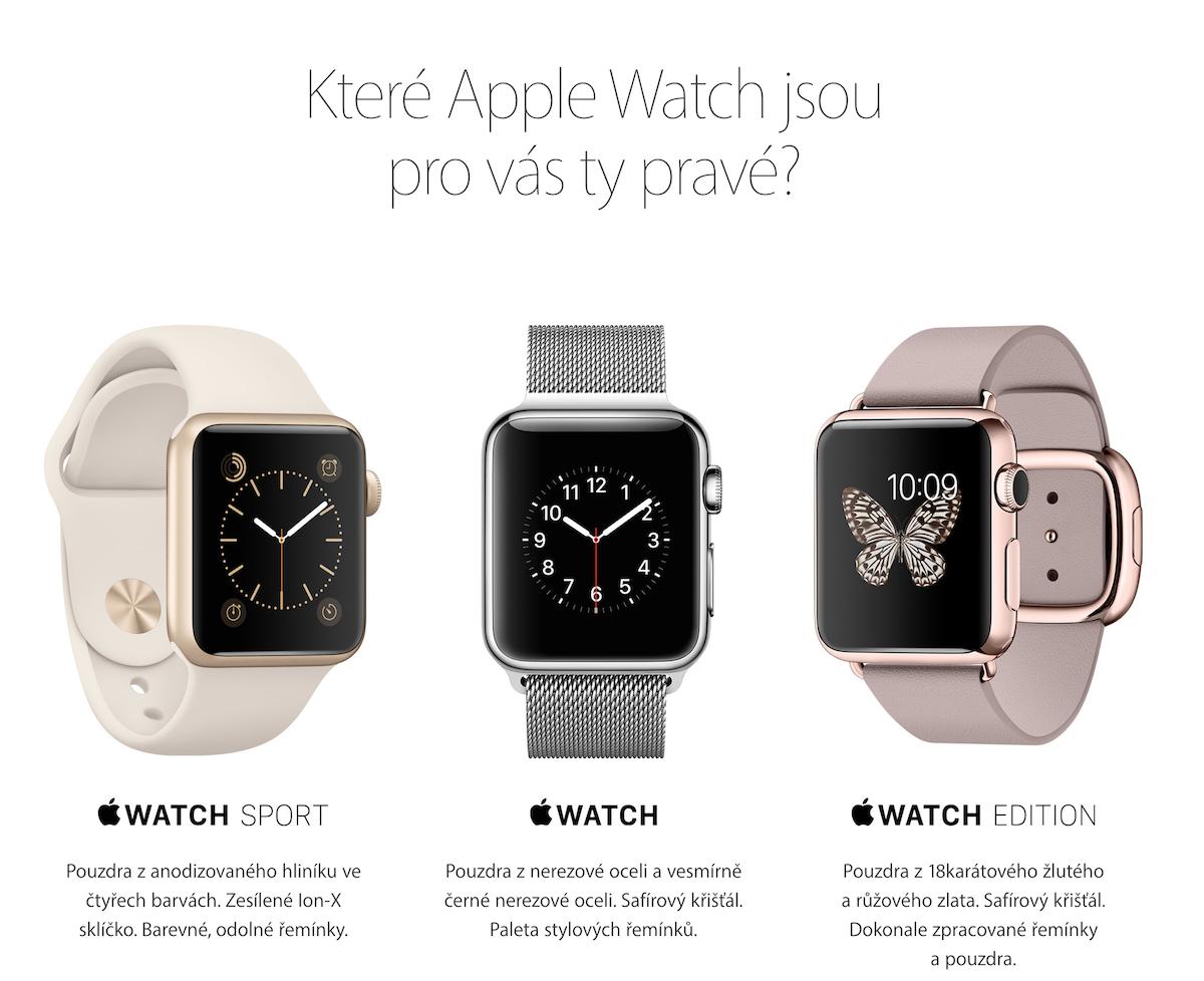 V ČR se začaly prodávat Apple Watch. Skladem většina modelů 6fc7b580e6e