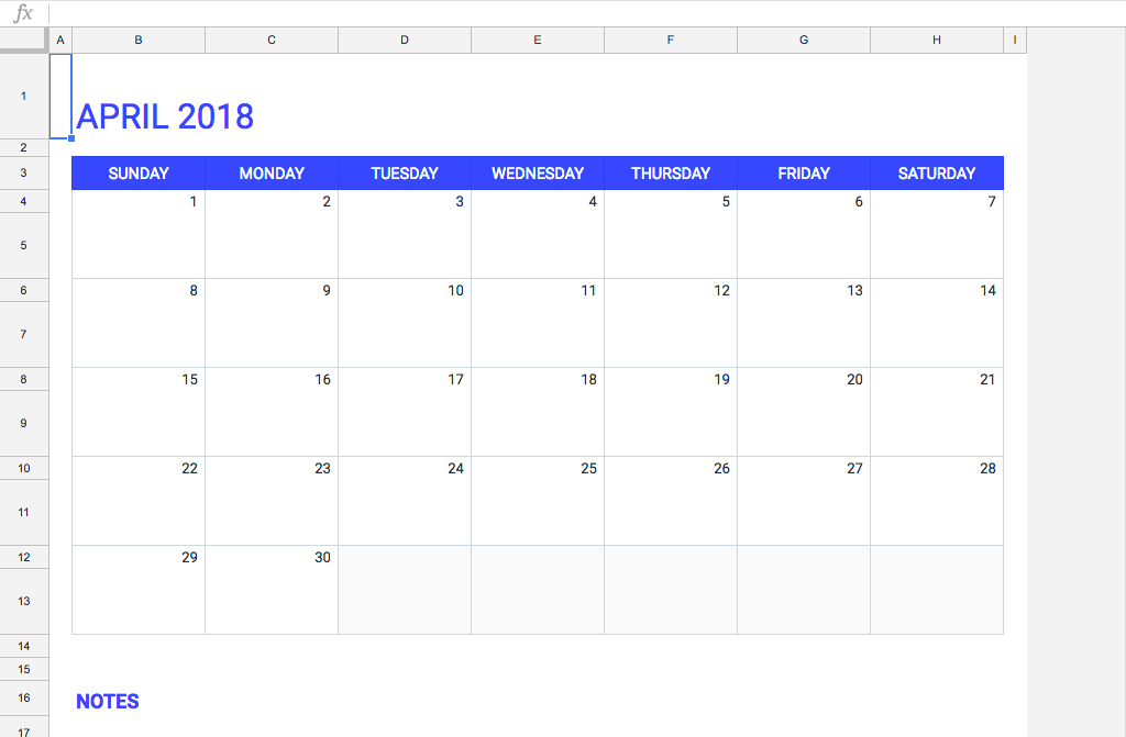 Monthly Calendar Google Sheets : Google sheets calendar monthly view