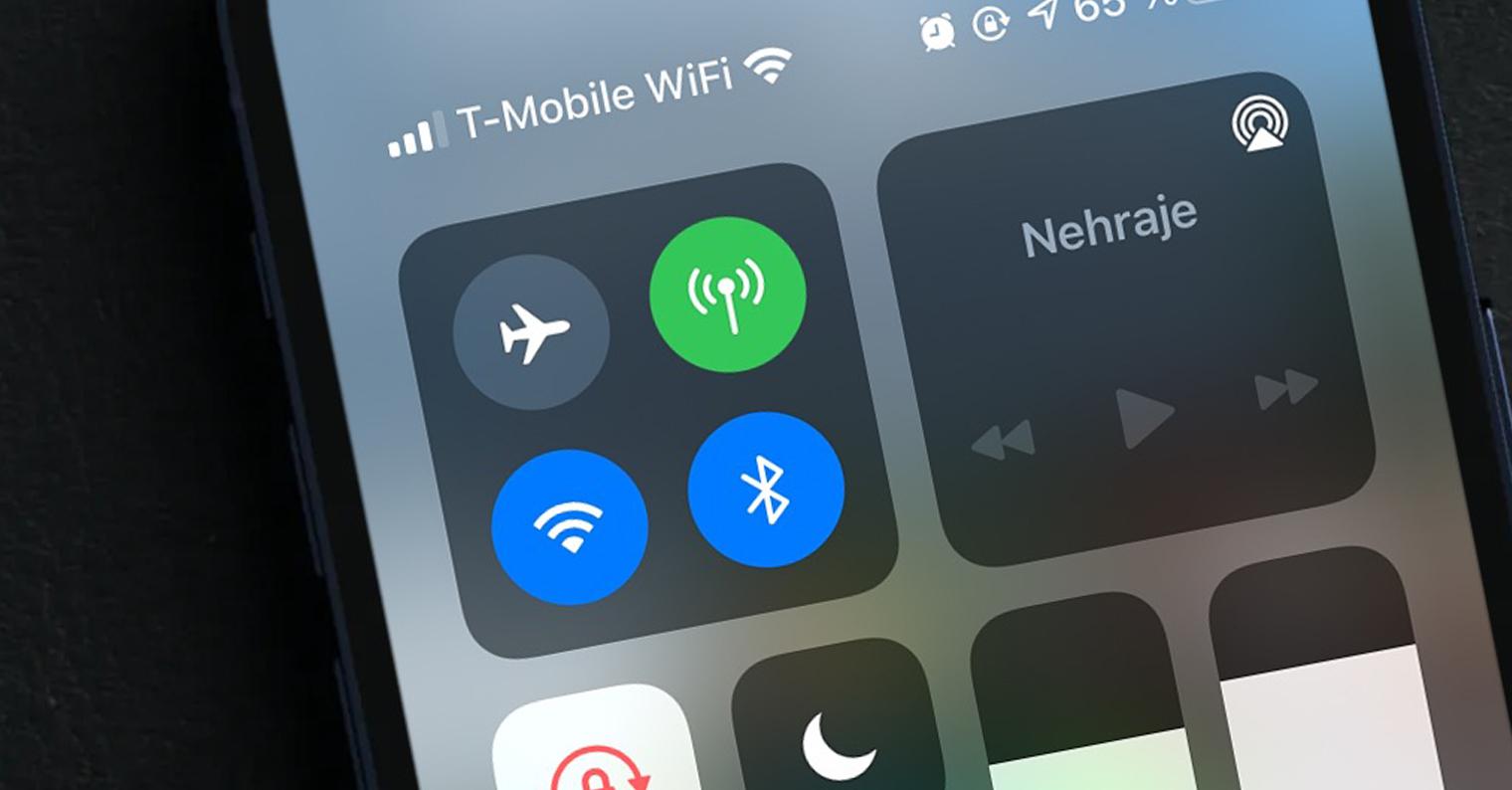 wifi mobilní data iphone